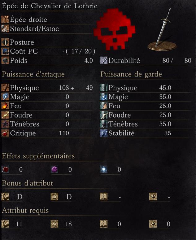 Épée de Chevalier de Lothric