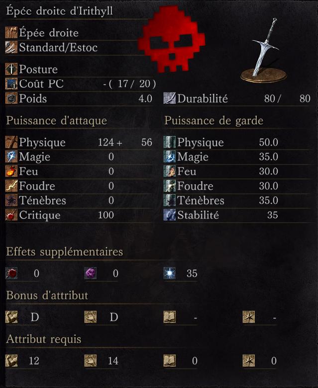 Épée droite d'Irithyll