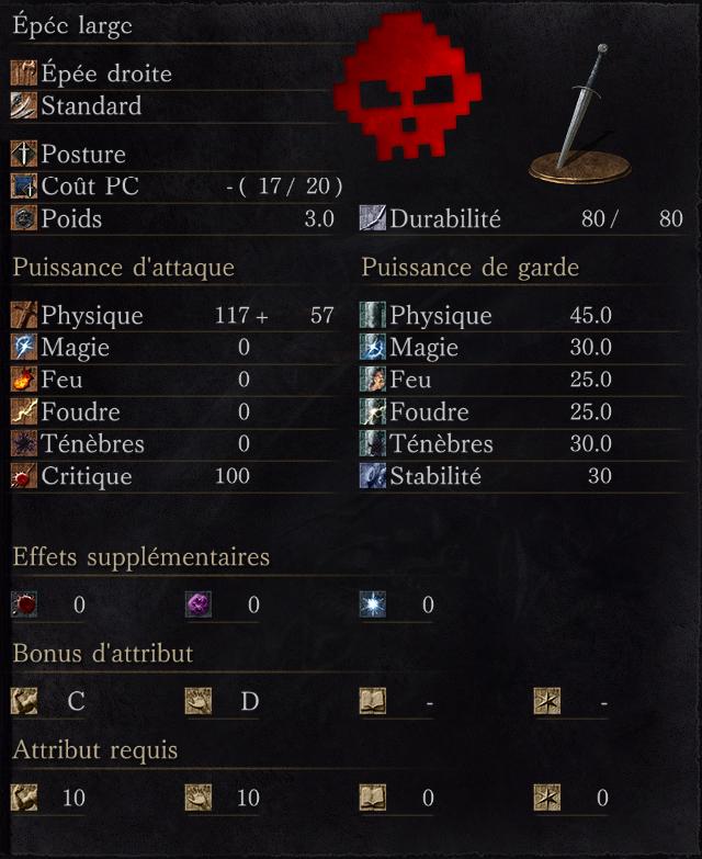 Épée large