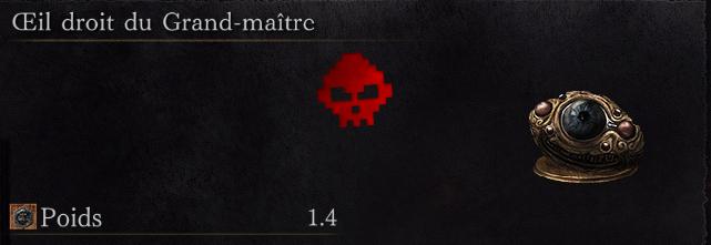 Guide Dark Souls III - Tous les anneaux œil droit du grand-maître