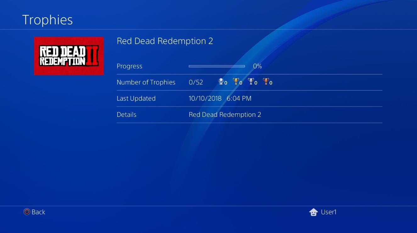 screenshot fuite listre trophées Red Dead Redemption 2