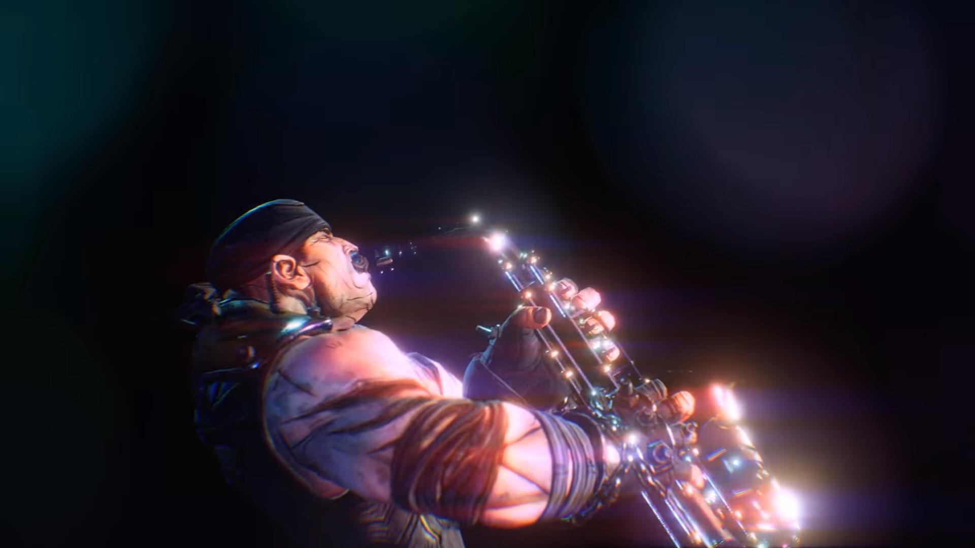 Borderlands 3 - brock faisant du saxophone