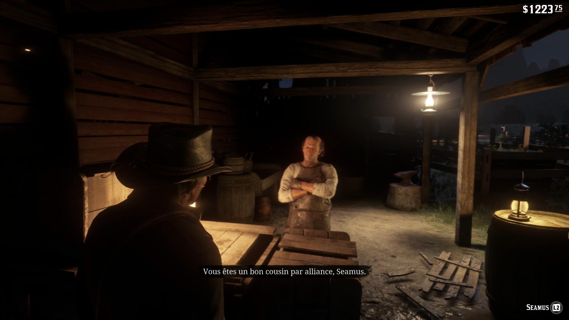 Guide Red Dead Redemption 2 - Les recéleurs Seamus à Emerald Ranch