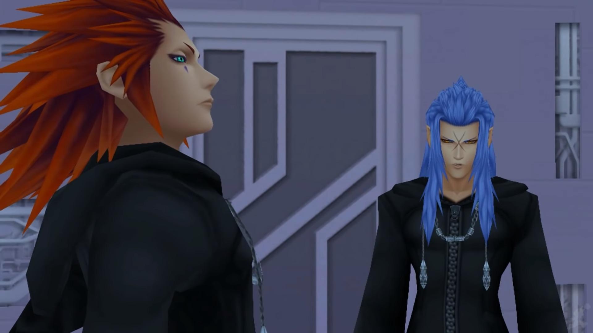 Axel discutant avec Saix