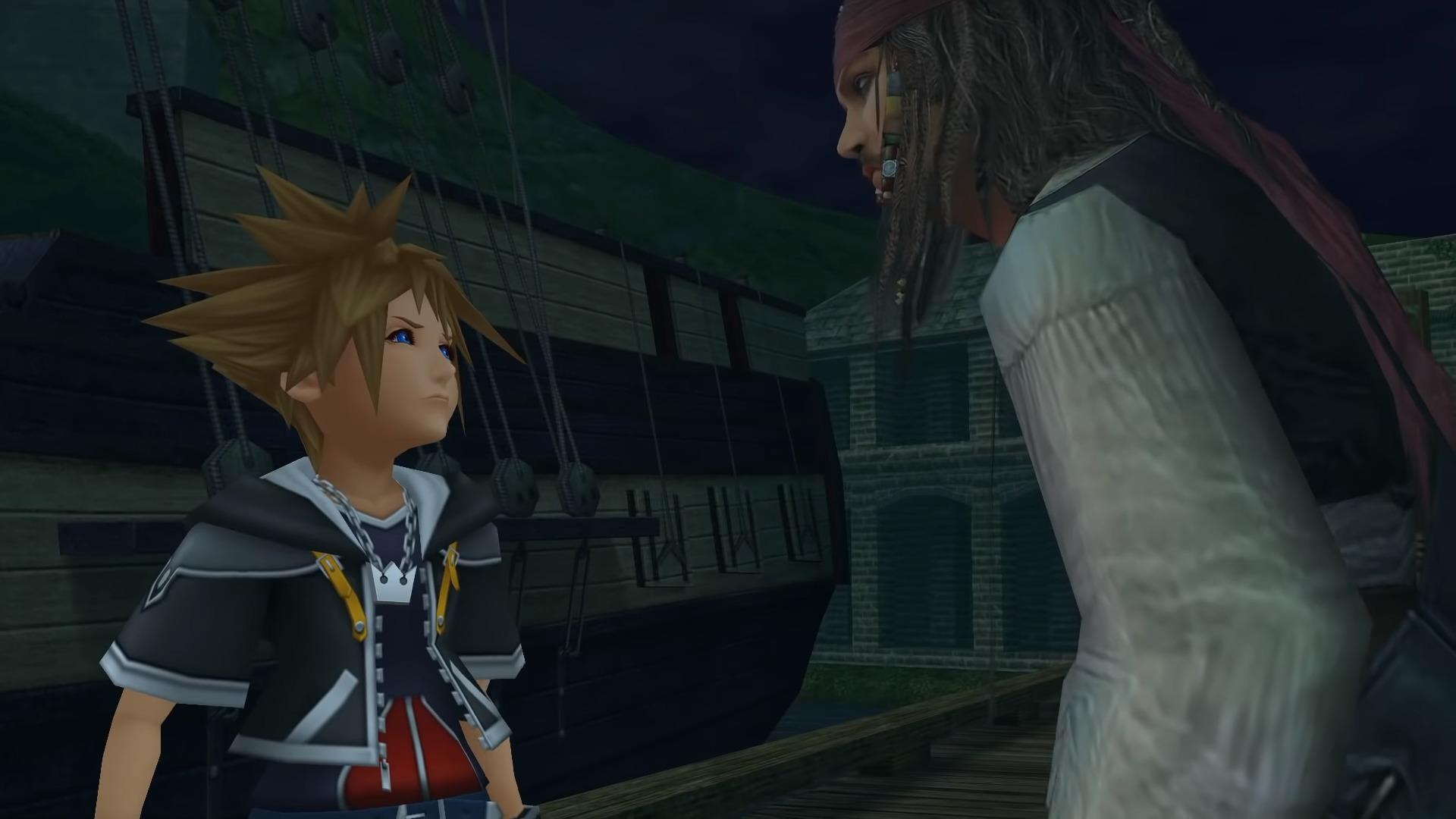 Sora face à Jack Sparrow