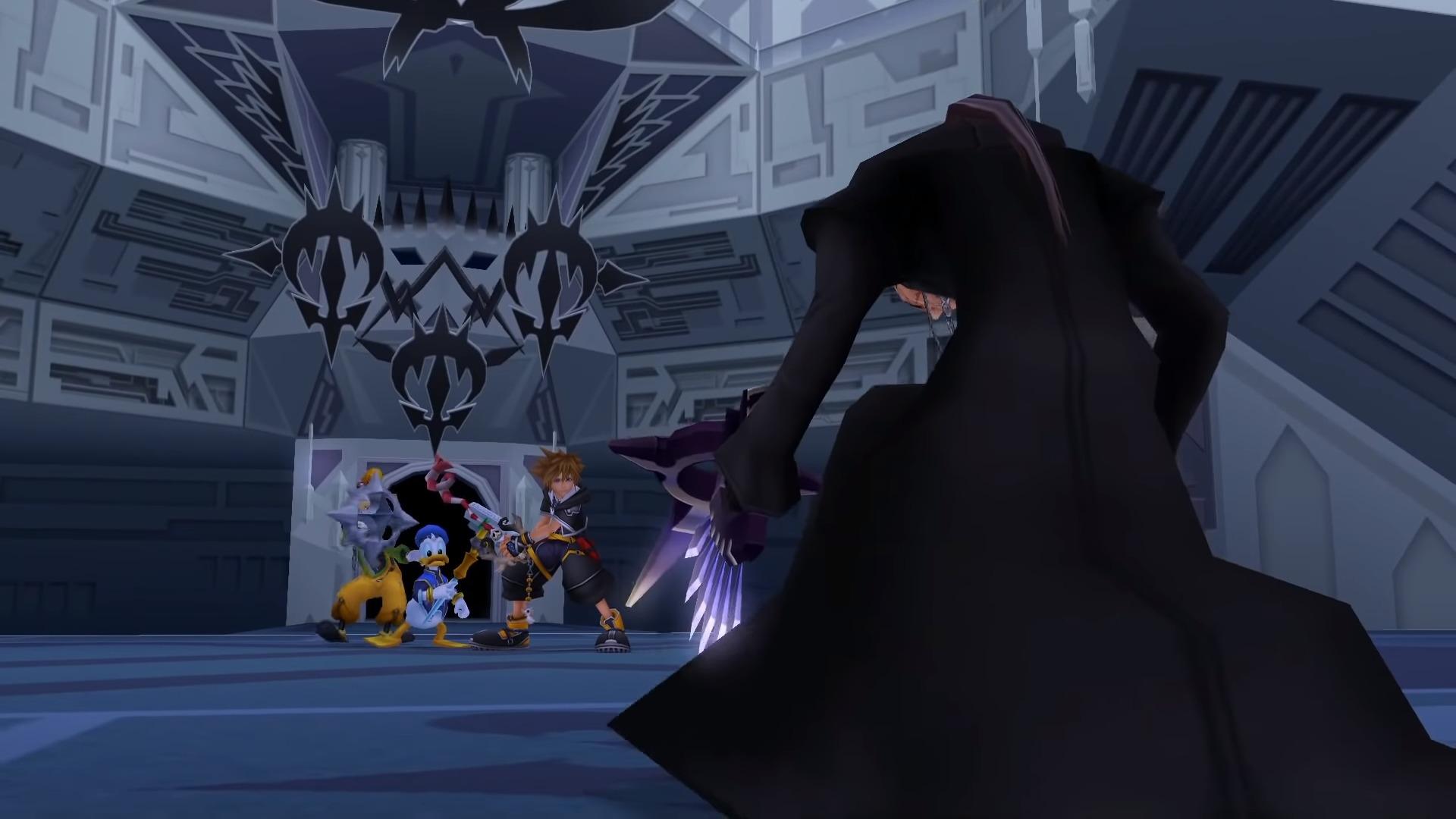 Xigbar apparaît devant Sora