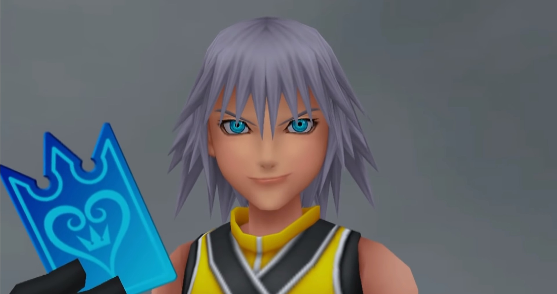 Riku tenant une carte