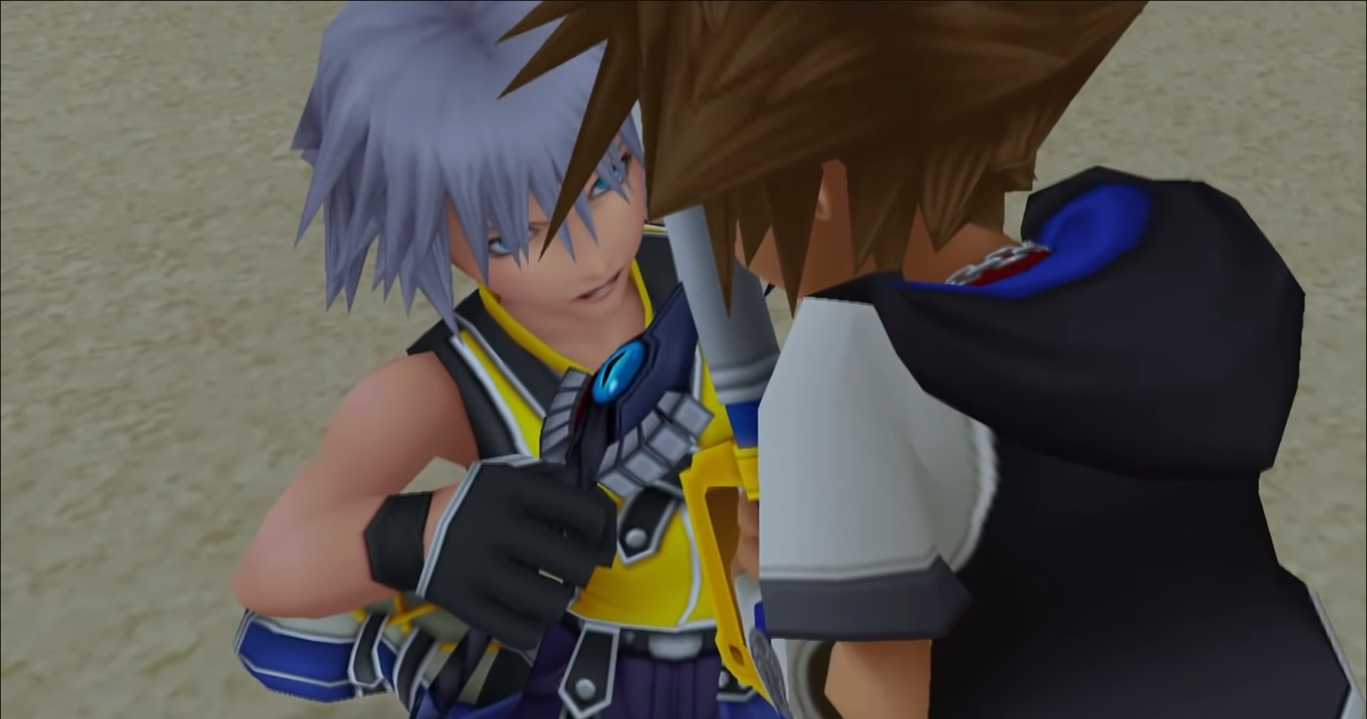 Riku combat Sora