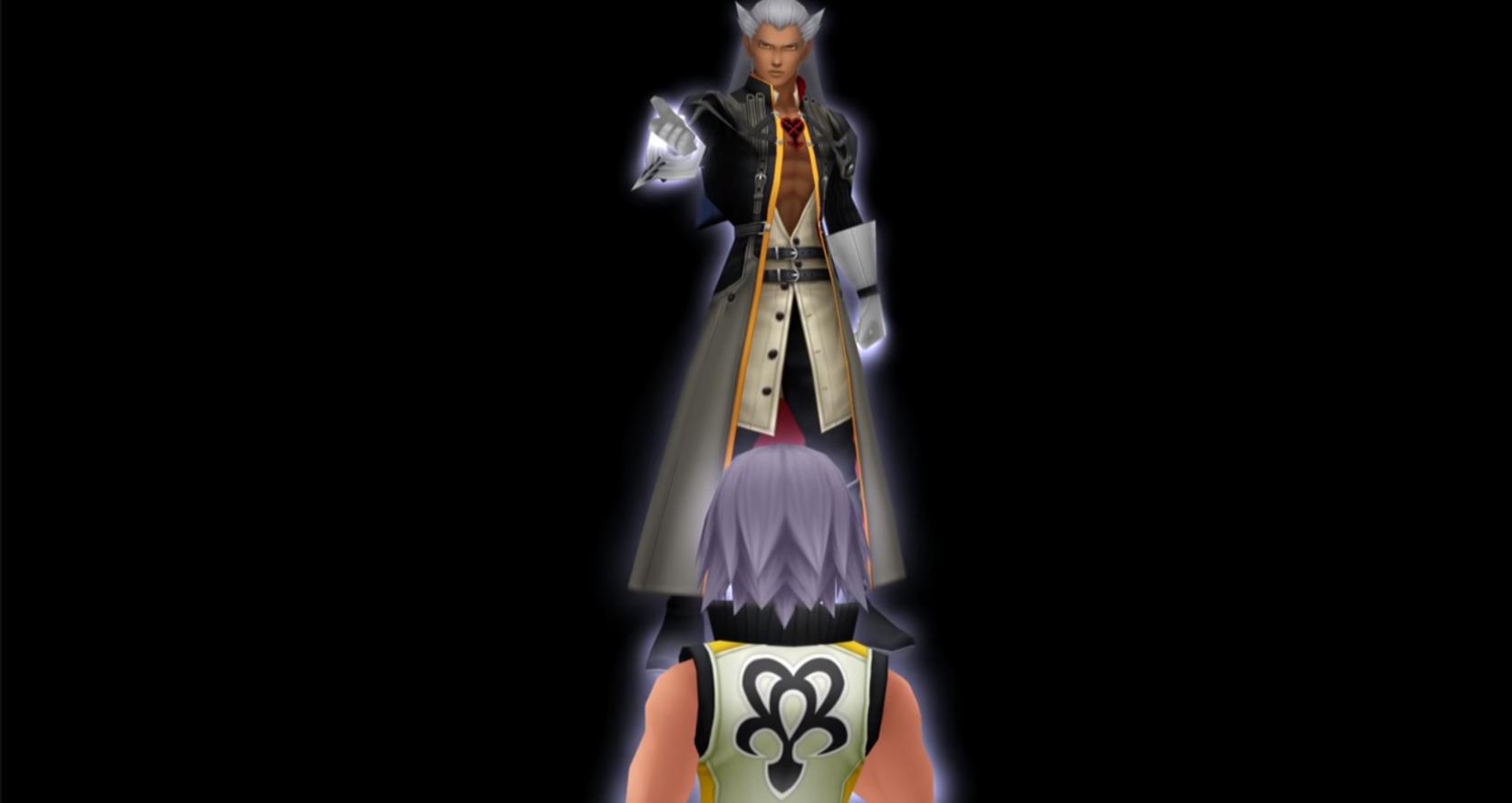 Riku face au sans coeur de Xehanort