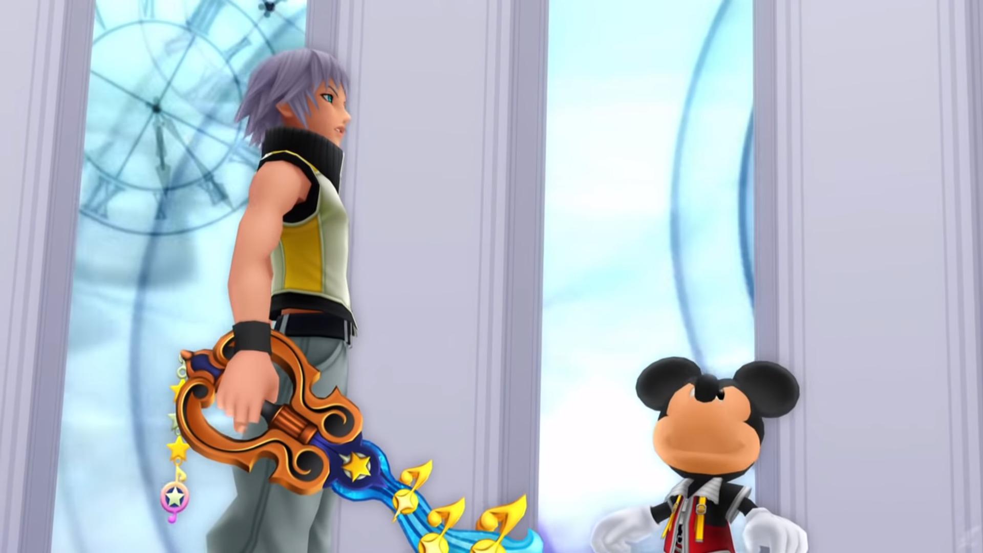 Riku et Mickey dans la salle du trône
