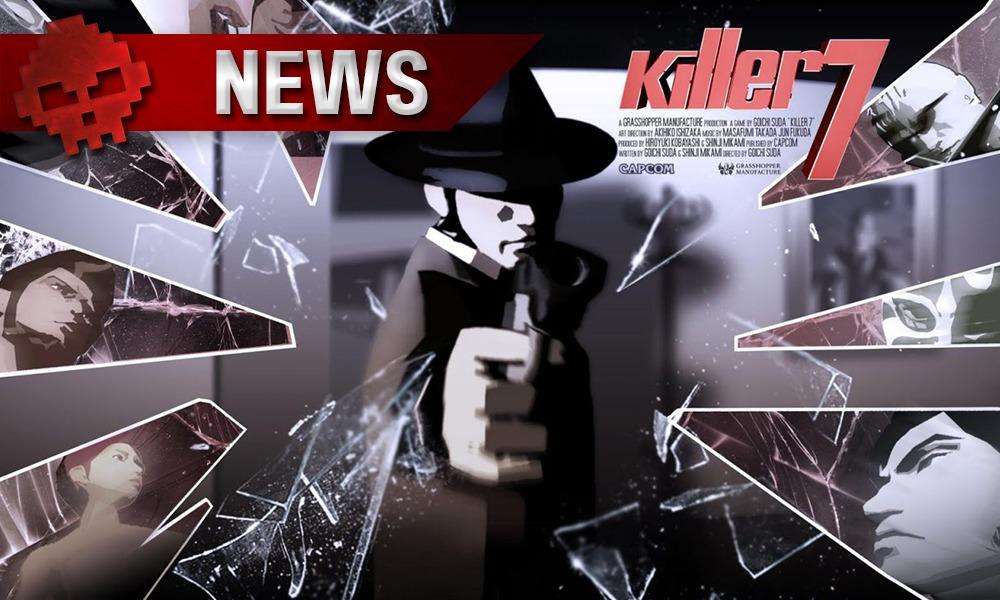 Killer7 vignette news Homme à chapeau tirant sur l'écran