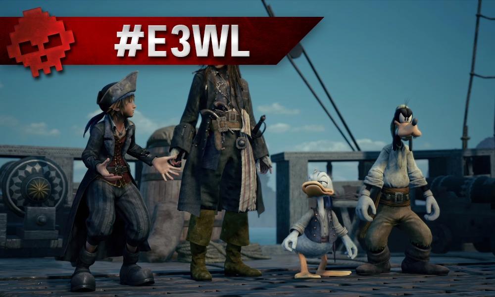 Sora, Dingo, Donald et Jack Sparrow sur un bateau