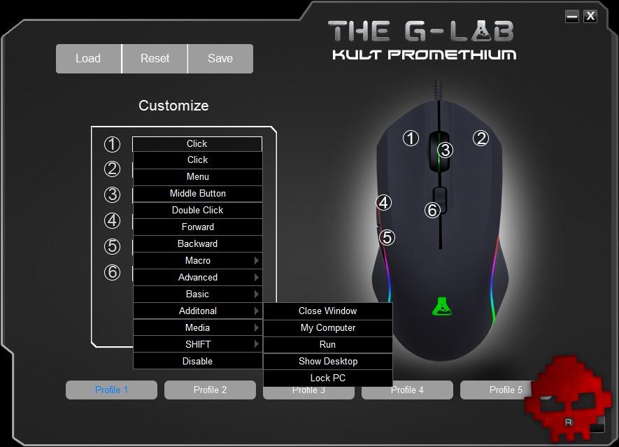 Configuration de la souris