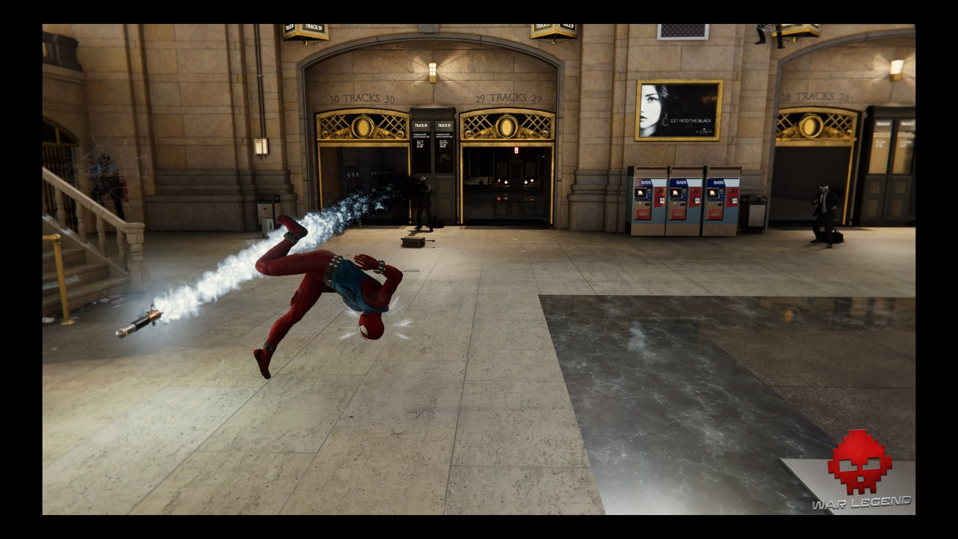 Spider-Man esquive une roquette