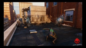 Spider-Man utilise la bombe de toile