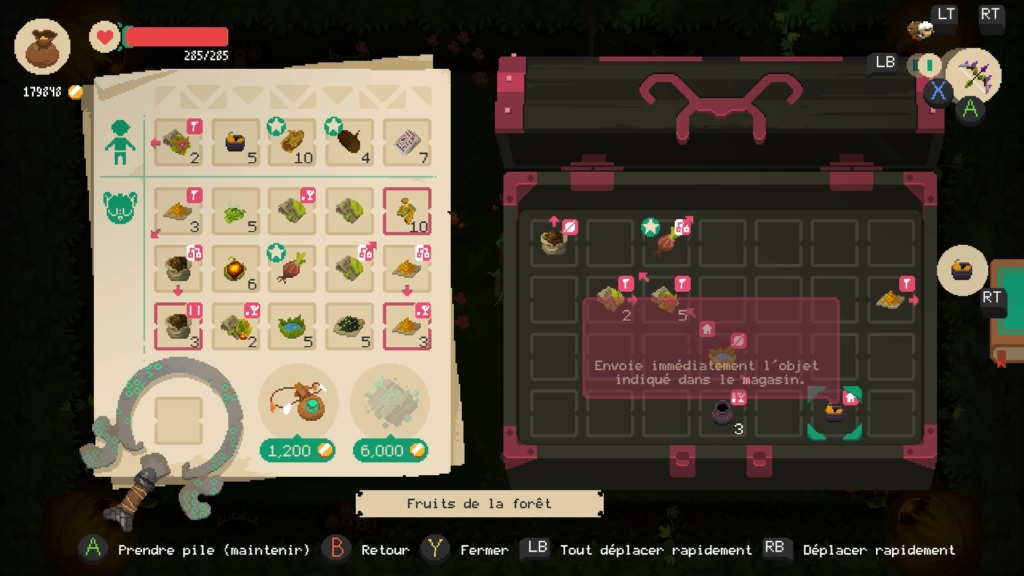 Moonlighter - L'inventaire