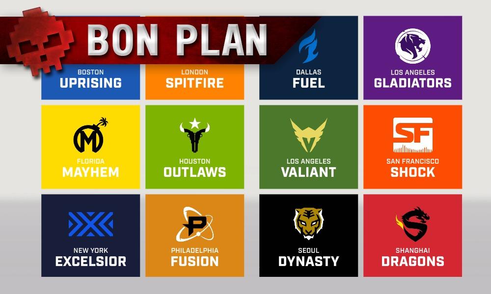 Équipes de l'Overwatch League