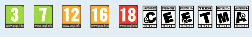 Classification PEGI - ESRB