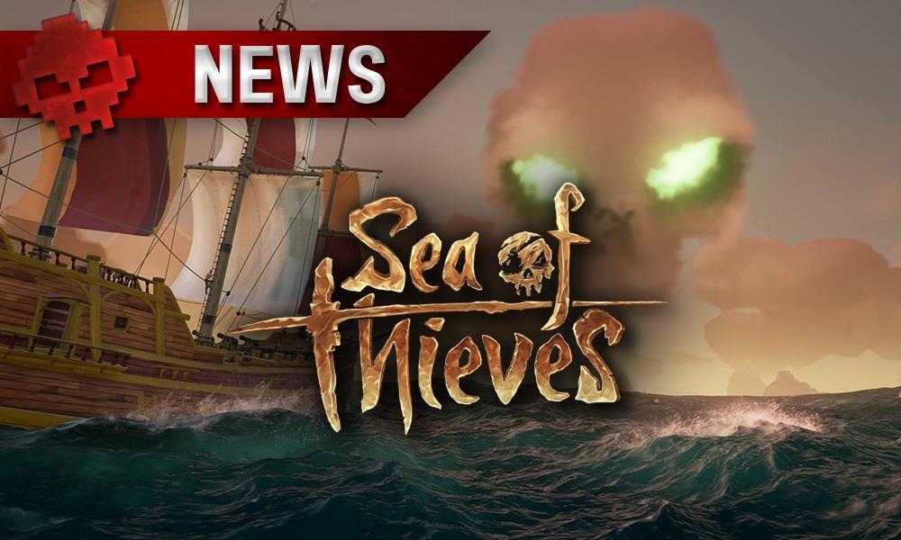 Seat of Thieves - Un bateau vogue vers un nuage en forme de crâne