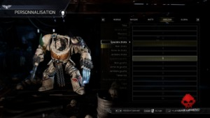 La personalisation des Space Marines