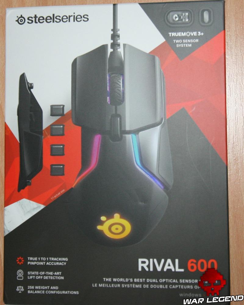 Boîte de la SteelSeries Rival 600