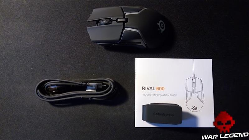 Contenu de la boîte de la SteelSeries Rival 600