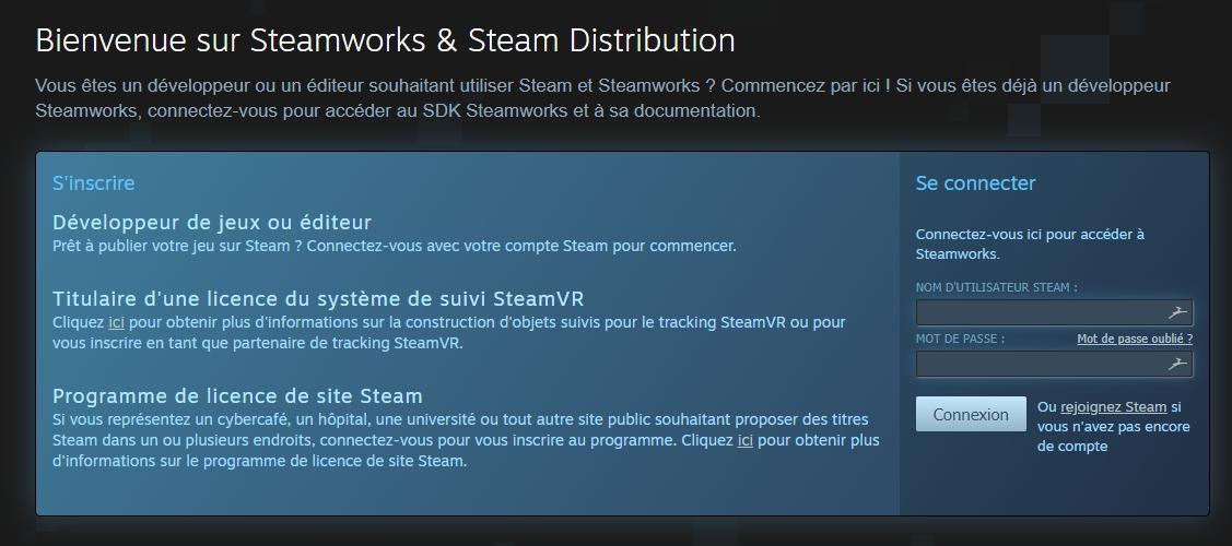 Steam Direct permet aux développeurs d'accéder à des outils de publication et de gestion de leurs applications