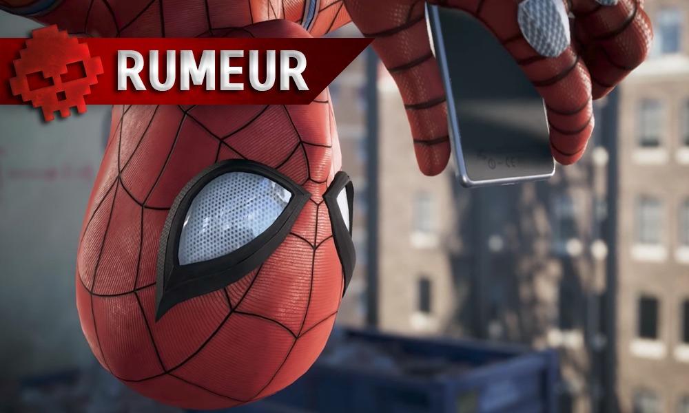 Spider-Man regarde son téléphone à l'envers