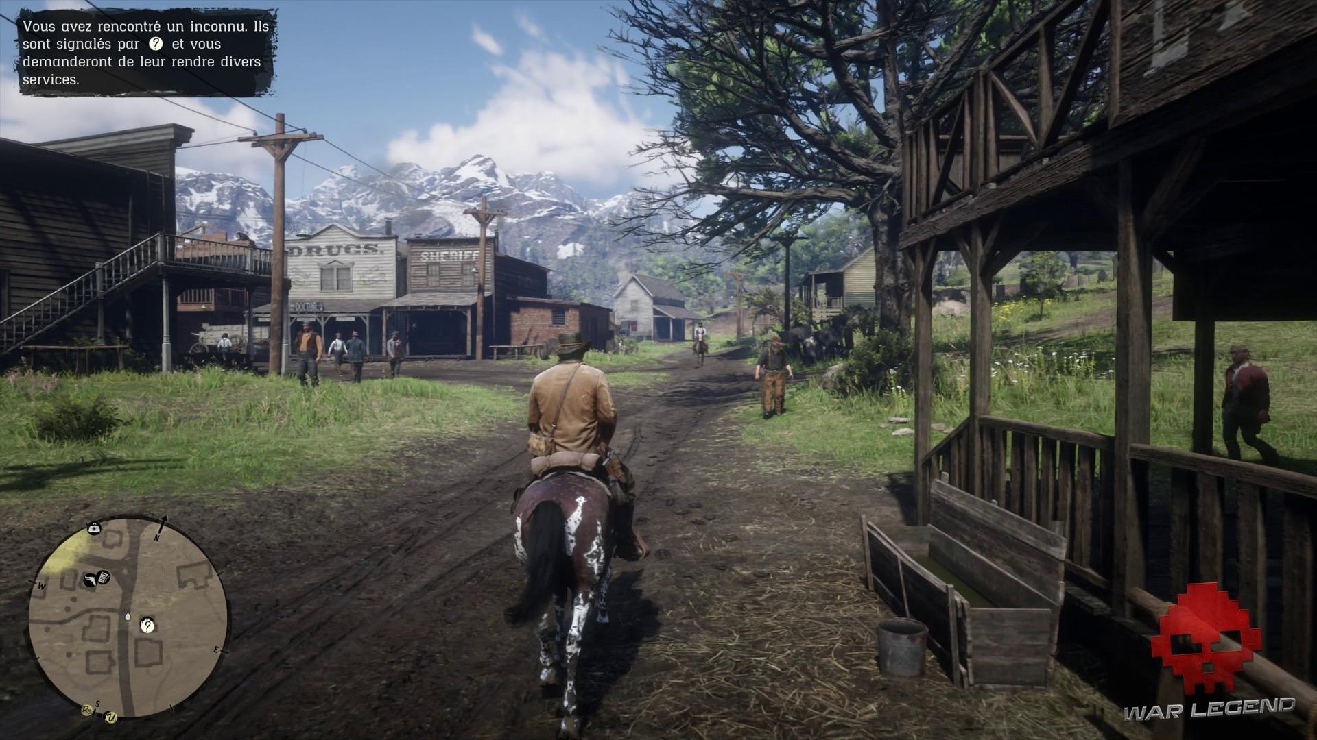 Soluce Red Dead Redemption 2 - Repos à l'américaine Arthur arrive à Valentine