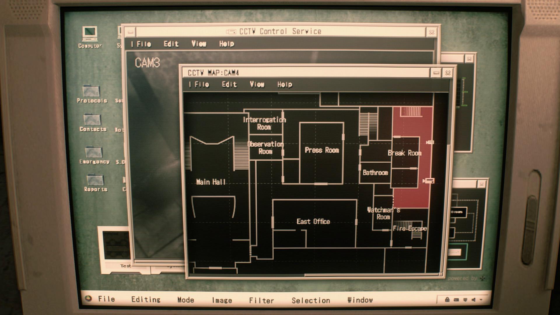un aperçu de la carte de l'endroit sur un écran cathodique