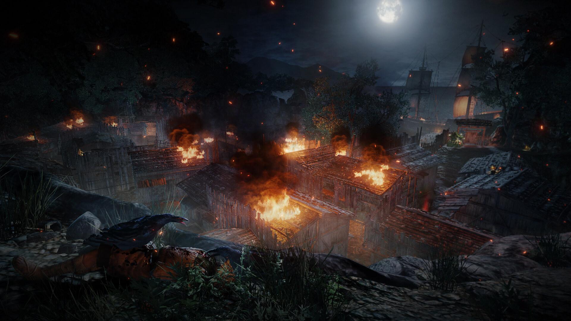 Aperçu Nioh village en flammes
