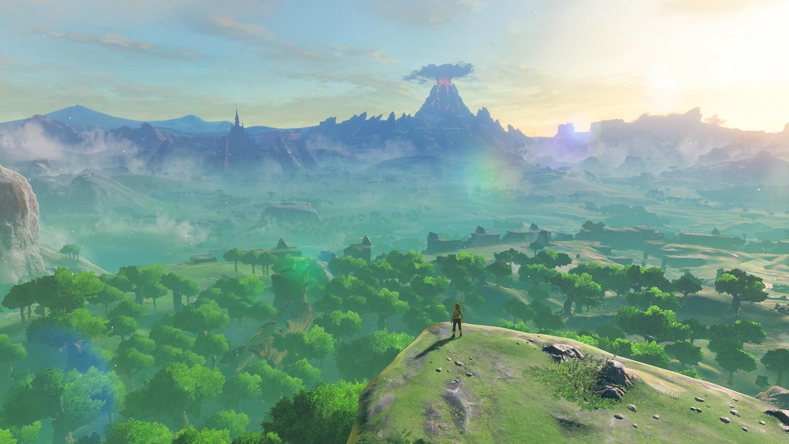 Zelda: BOTW Link regardant le monde