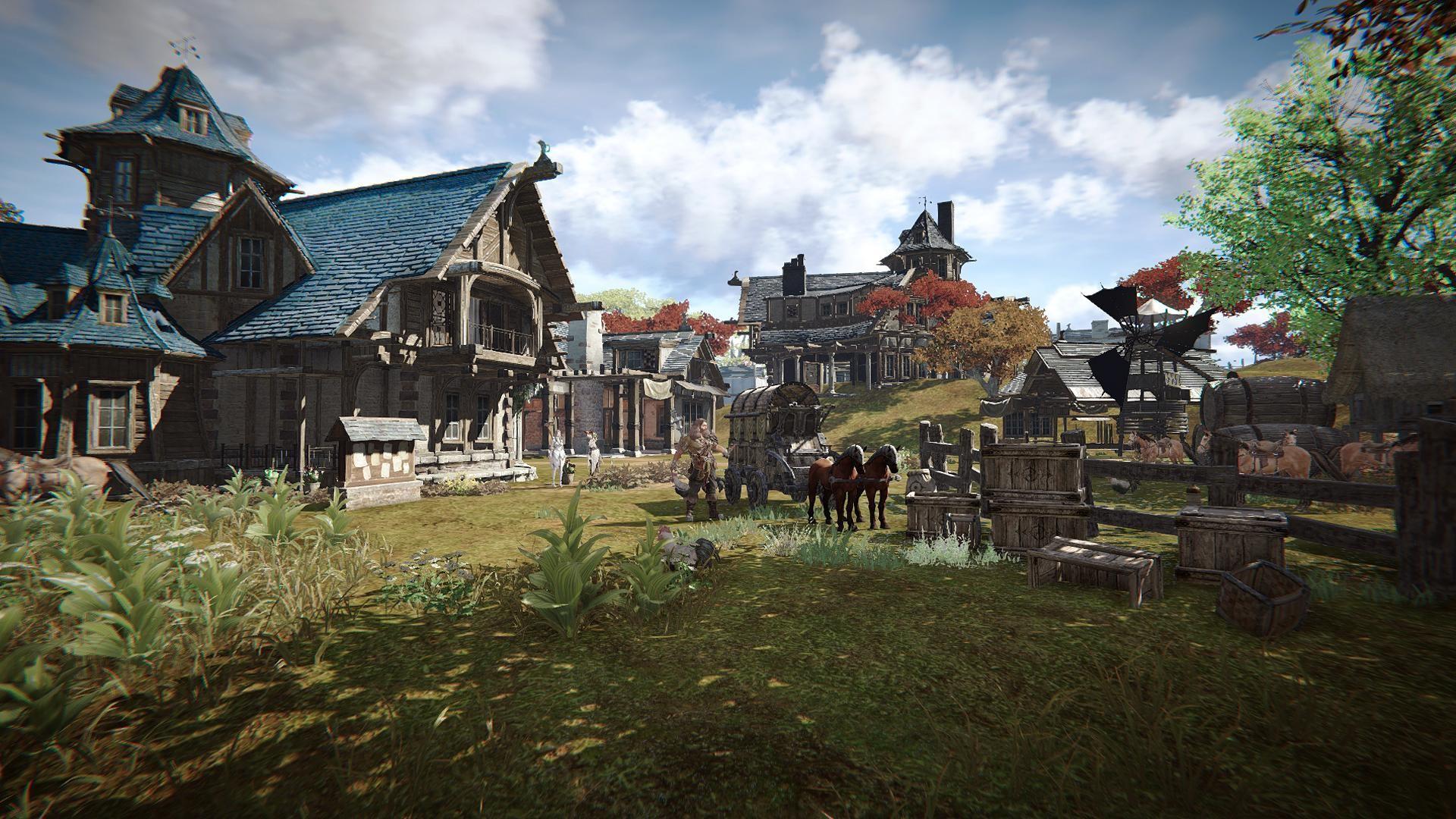 Un village dans Ascent Infinite Realm