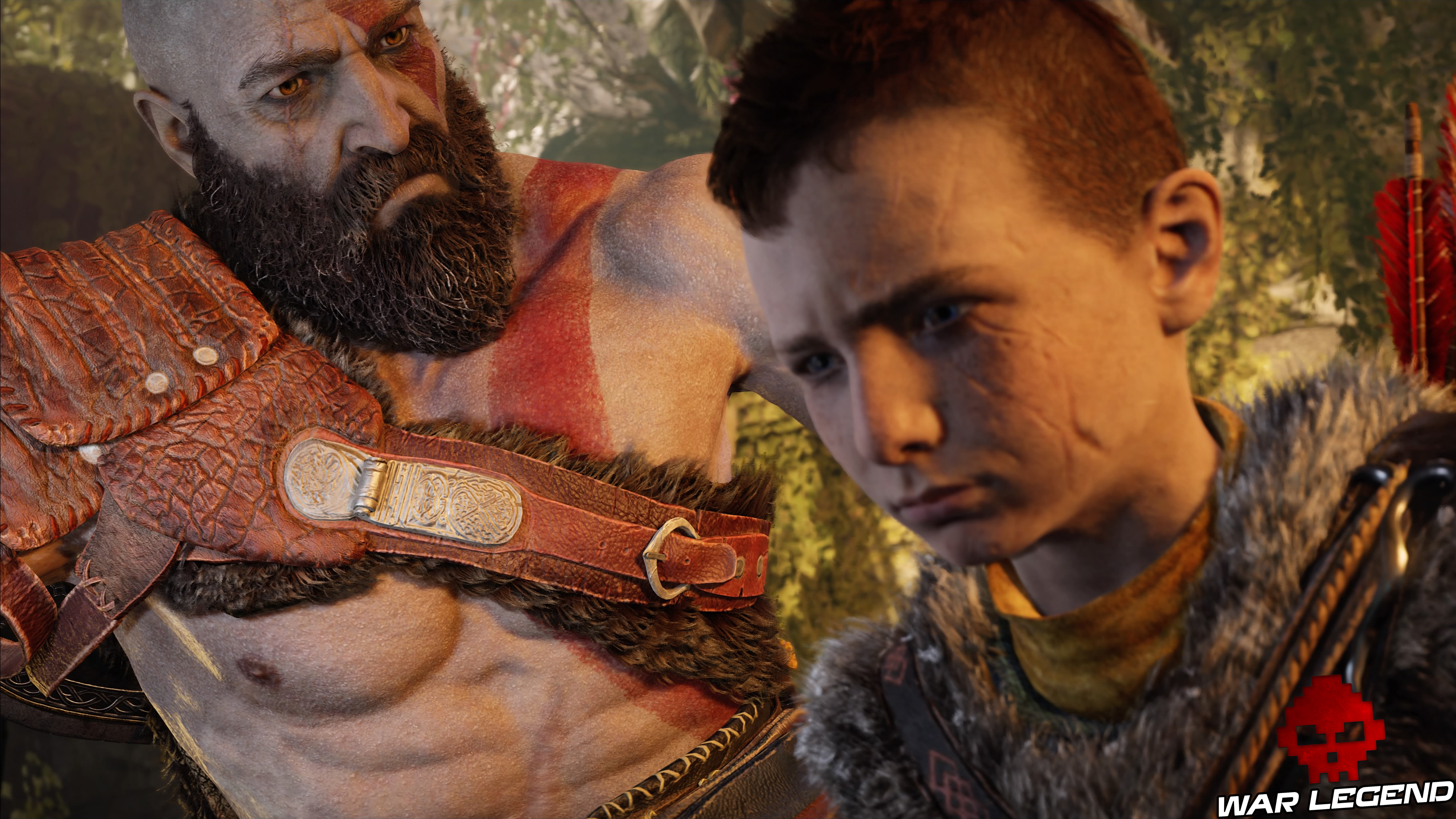 Test God of War Kratos et son fils Atreus