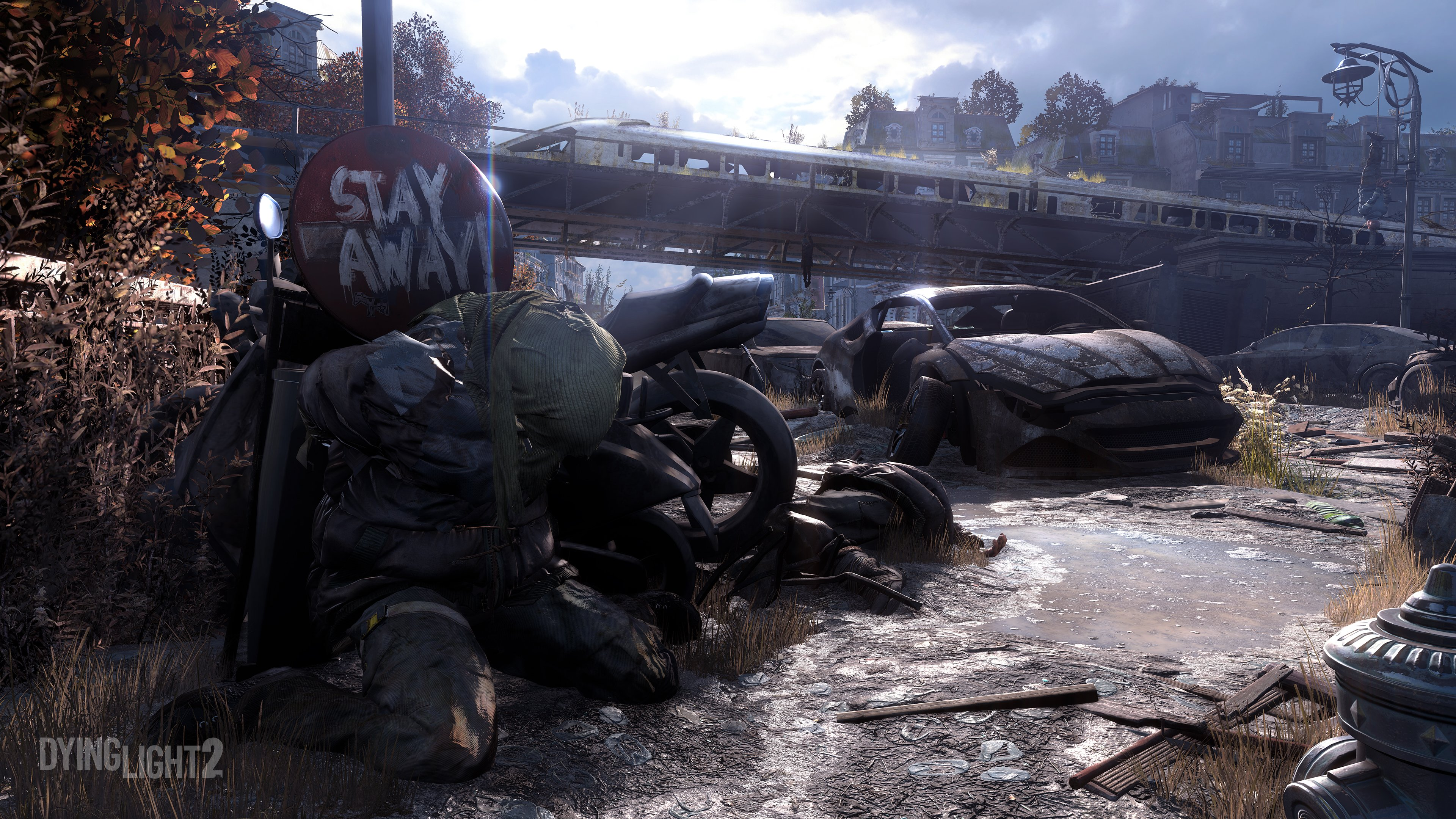 """Dying Light 2 panneau """"stay away"""""""