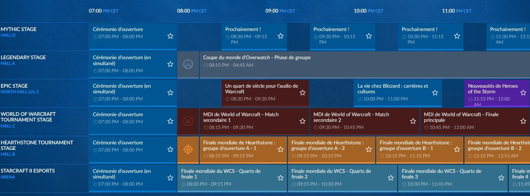 blizzcon programme