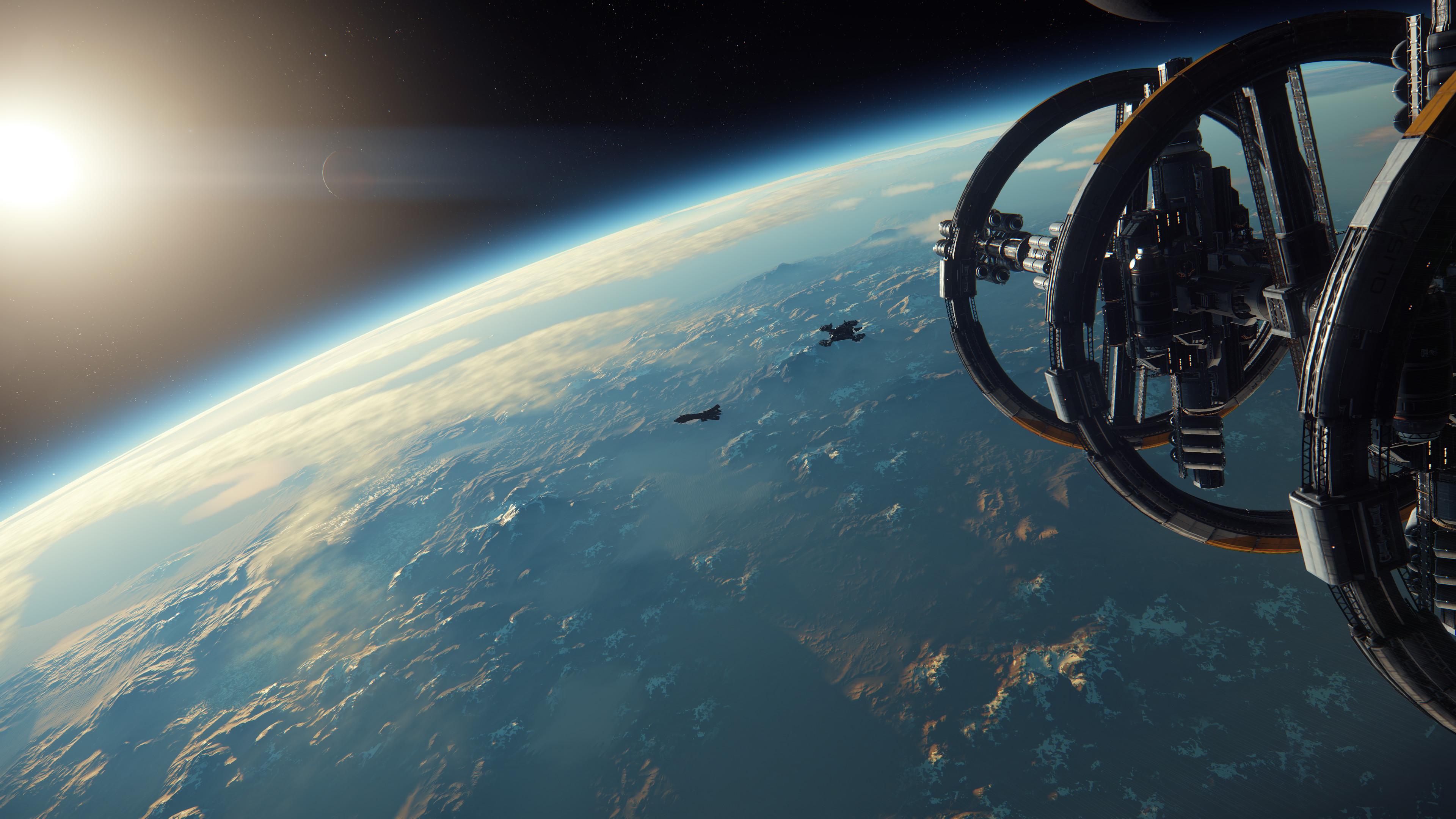 Planète vu de l'espace