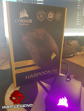 Test Corsair Harpoon RGB - boîte avant