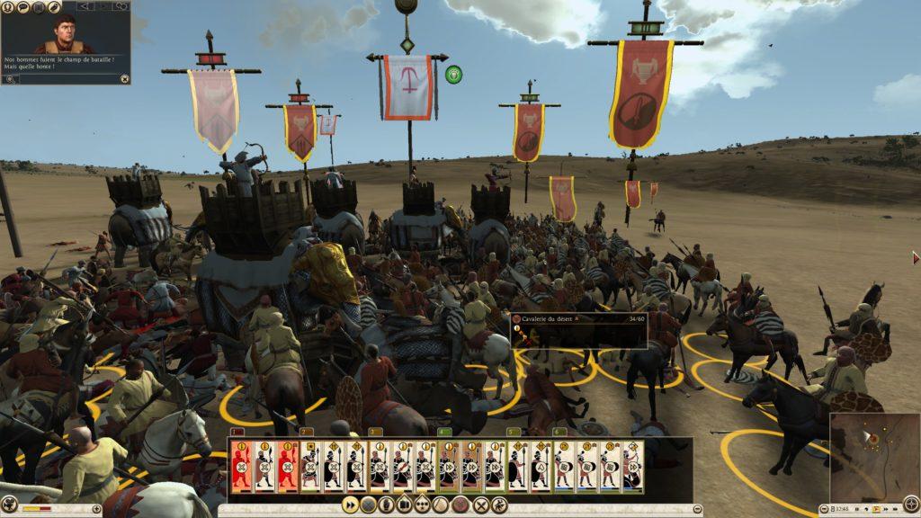 Combat entre cavalerie et éléphants
