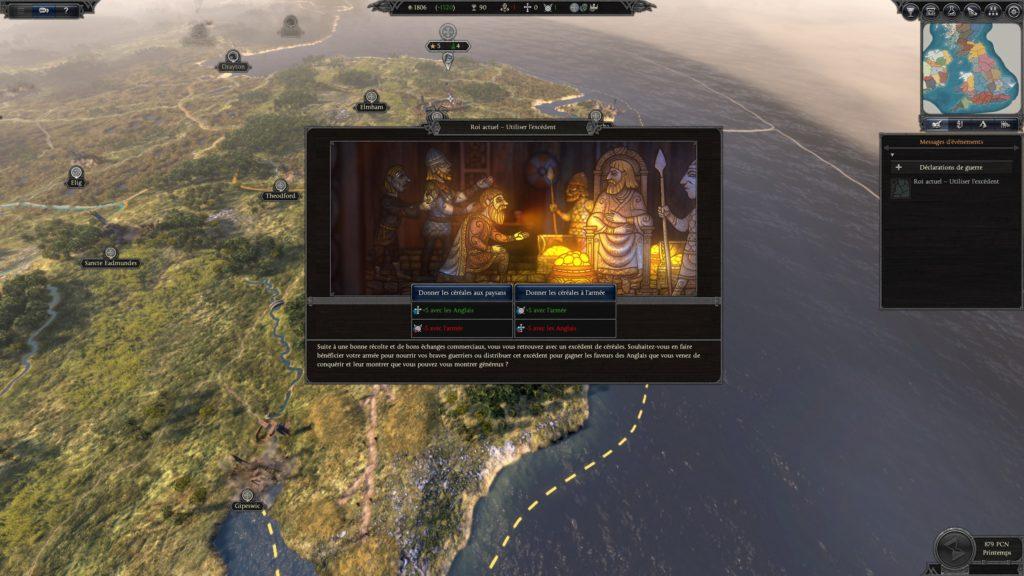 Un dilemme typique de Thrones of Britannia