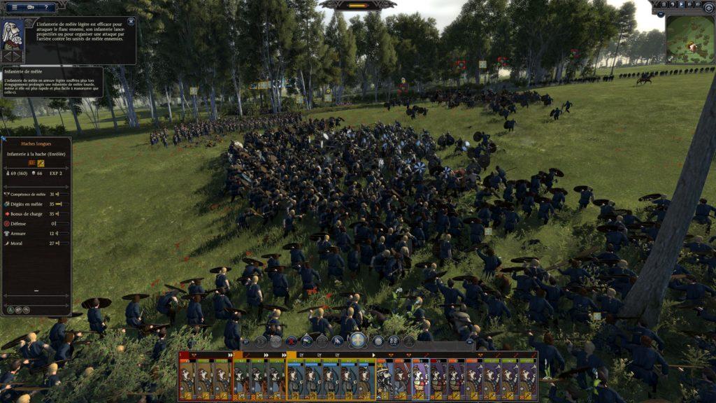 Une scène de bataille dans Thrones of Britannia