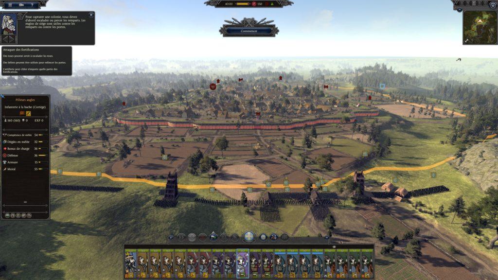 Bataille de siège dans Thrones of Britannia