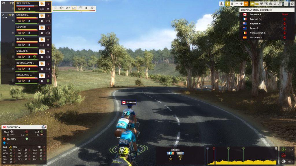 Une échappée sur Pro Cycling manager
