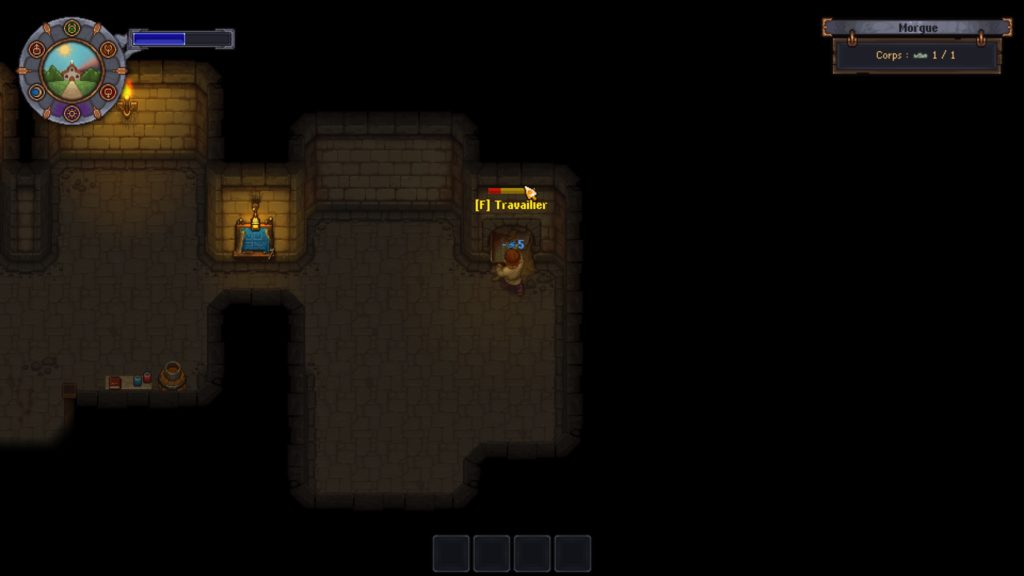 Construction dans la morgue de Graveyard Keeper