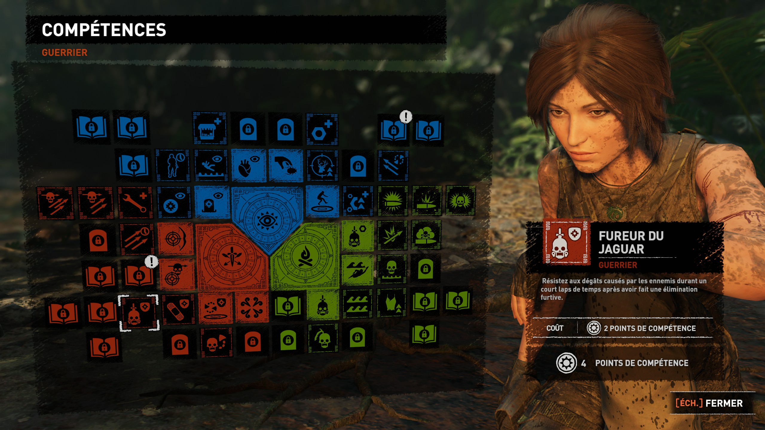 guide Shadow of the Tomb Raider l'arbre de compétence