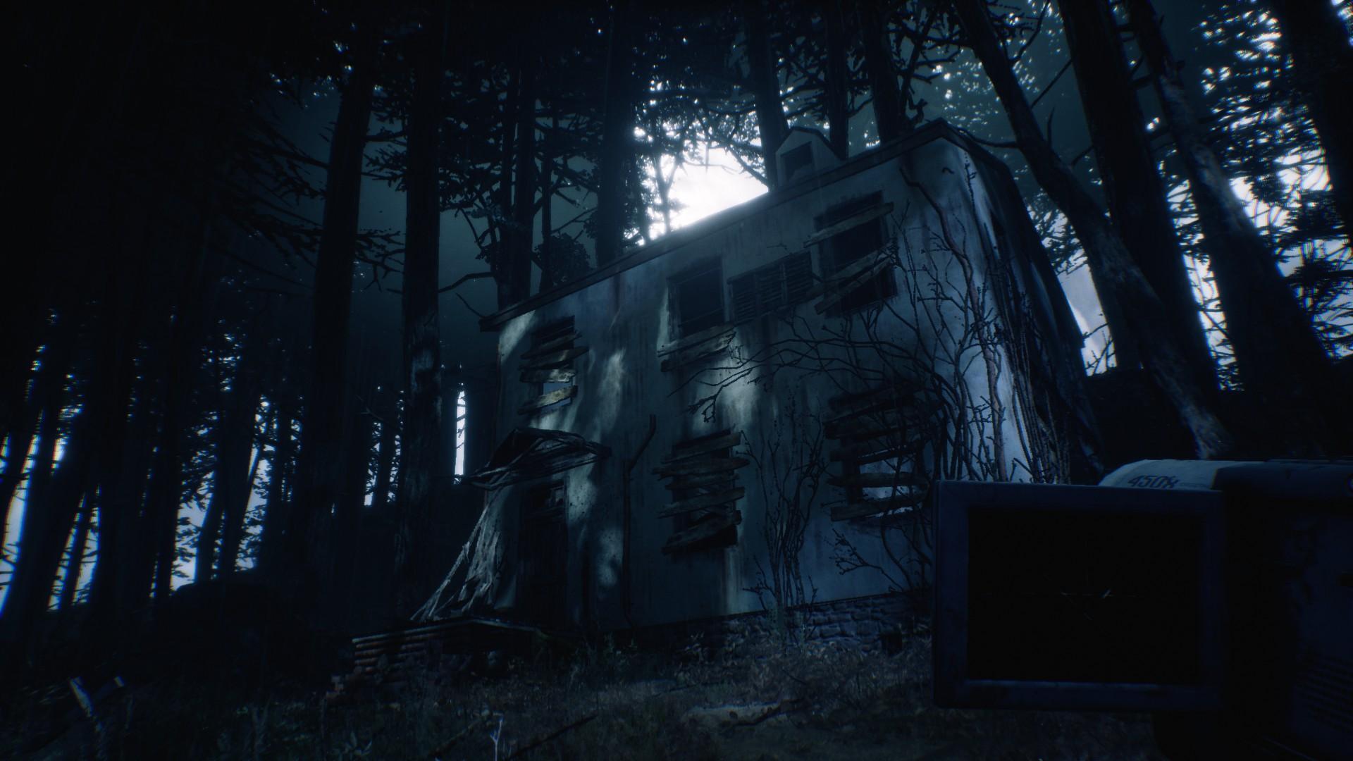 Une inquiétante maison dans les bois.