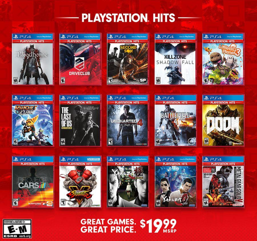 Sony Lance La Gamme Playstation Hits Les Meilleurs Jeux Ps4 à 20
