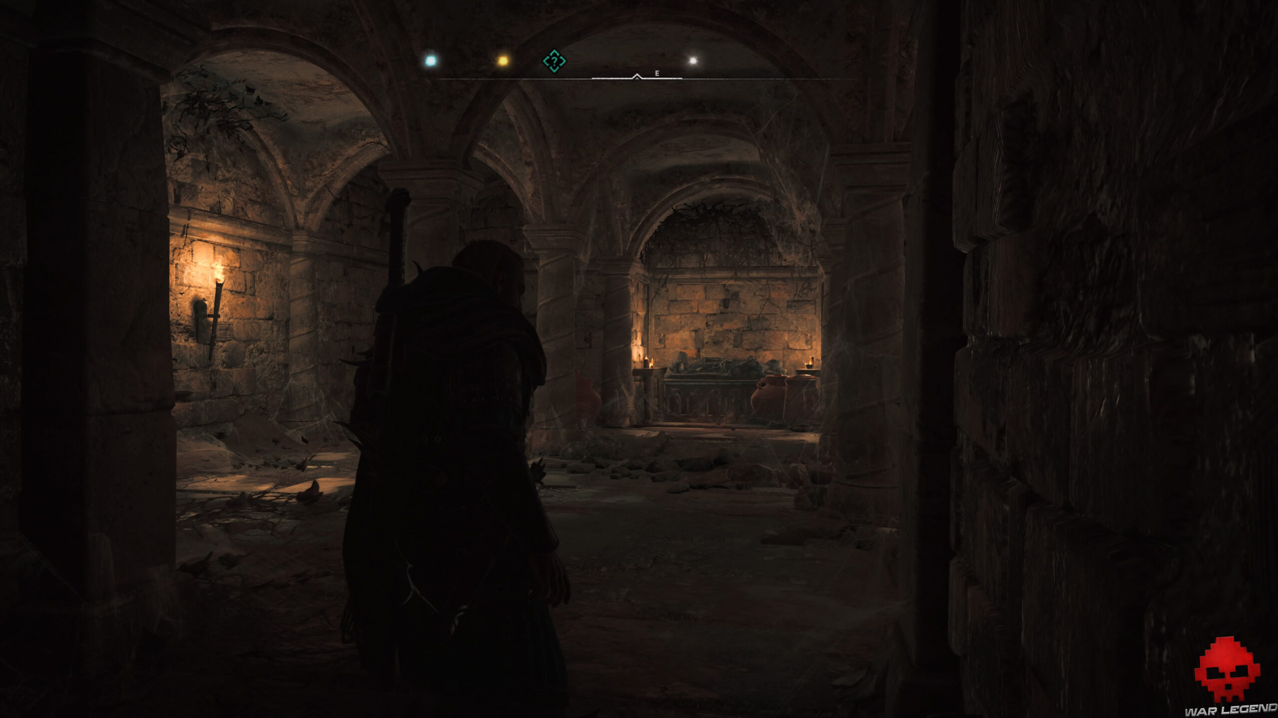 Tombeau dans un sous-sol