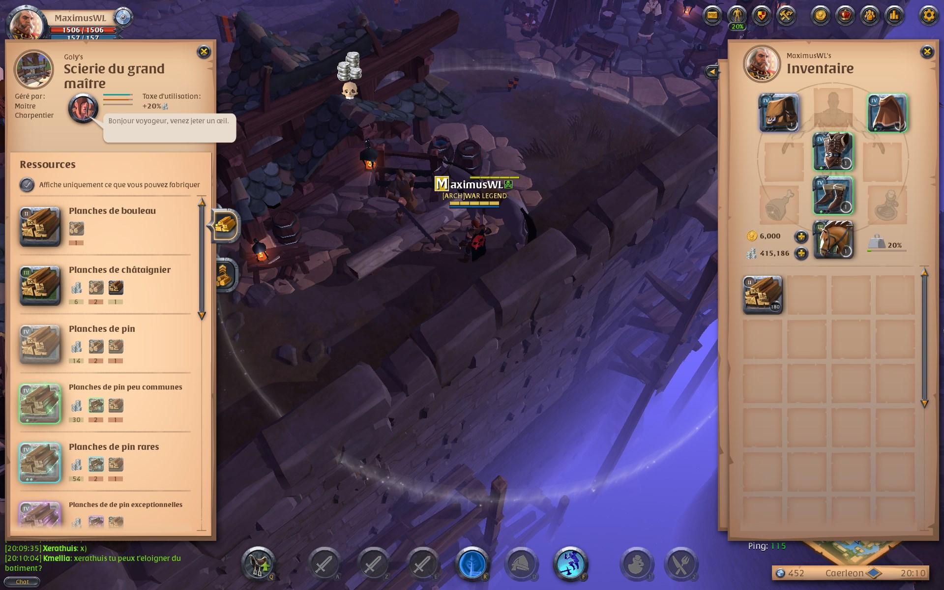 Guide Albion Online - Comprendre la focalisation - processus de focalisation interface