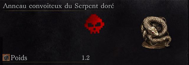 Guide Dark Souls III - Tous les anneaux convoiteux du serpent doré
